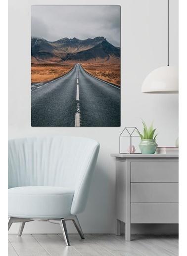MarkaEv Canvas Yol ve Doğa Manzara Tablo 0122 Renkli